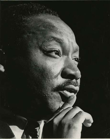 PHOTO FILED: MARTIN LUTHER KING JR. 10/17/1967 -  Martin Luther King Jr. at the Sam Houston Coliseum, Oct 17, 1967 Blair Pittman / Houston Chronicle Photo: Blair Pittman, HC Staff / Houston Chronicle