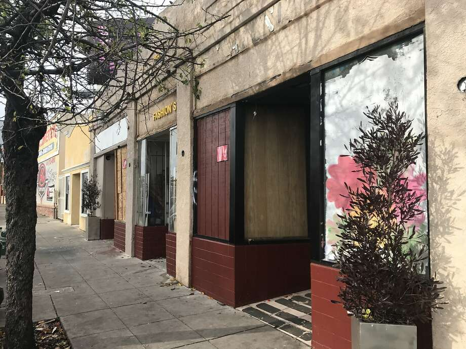 Vacant storefront on 6600 block of Bancroft Avenue in Oakland where Alameda County Sheriff's deputies found 28 people living illegally. Photo: Courtesy Alameda County Sheriff's Department, Alameda County Sheriff's Department