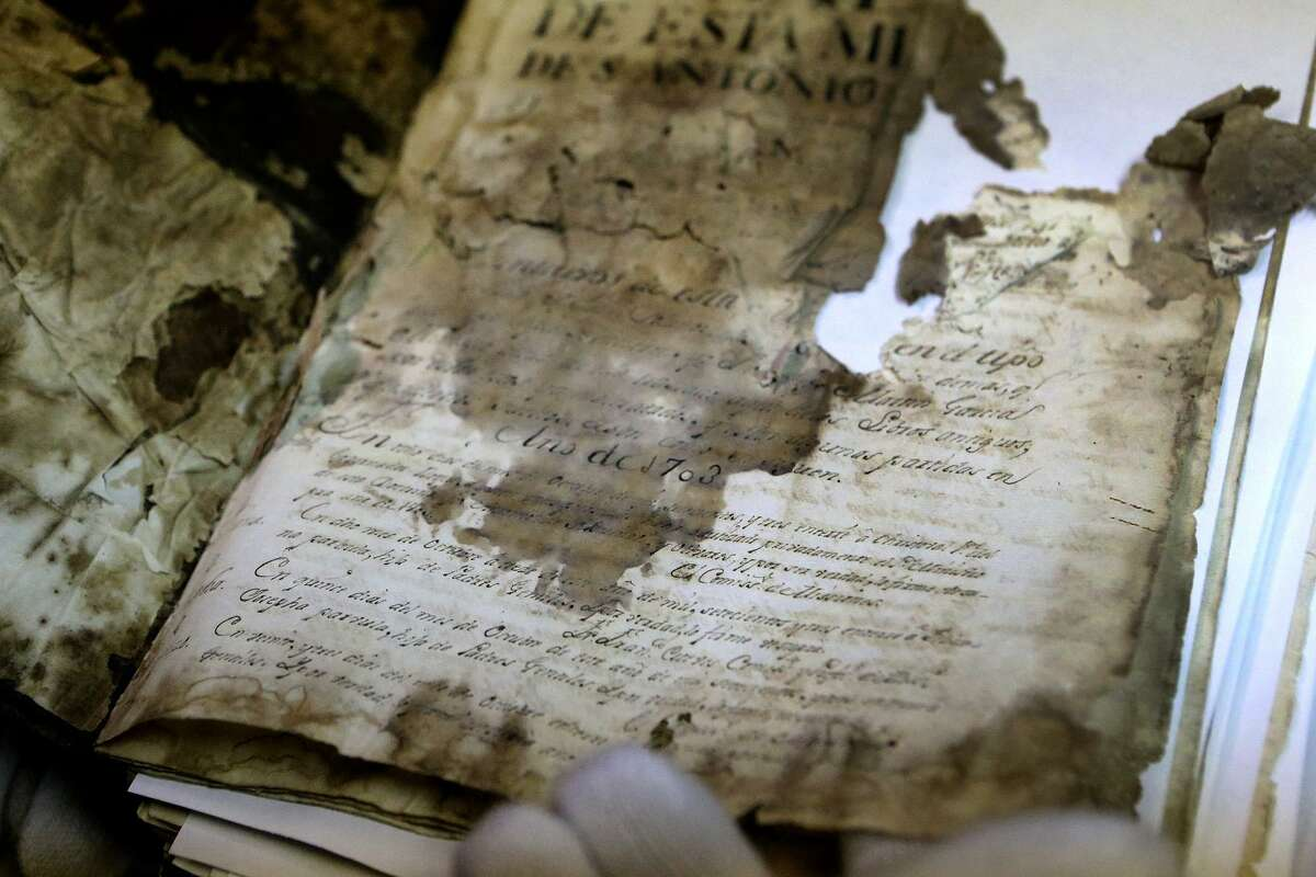 Digitizing family records is important to genealogists because so many original volumes have deteriorated over time.