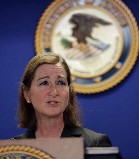 U.S. Attorney Barbara McQuade of the Eastern District of Michigan addresses the media, Friday, Jan. 13, 2017, in Detroit. McQuade announced that Takata Corp. has agreed to plead guilty to a single criminal charge and will pay $1 billion in fines and restitution for a years-long scheme to conceal a deadly defect in its automotive air bag inflators. (AP Photo/Carlos Osorio) Photo: Carlos Osorio, STF / Copyright 2017 The Associated Press. All rights reserved.