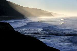 The Pacific coastline just west of Coast Dairies, the newly designated California Coastal National Monument in Santa Cruz County on Friday, January 13, 2017.
