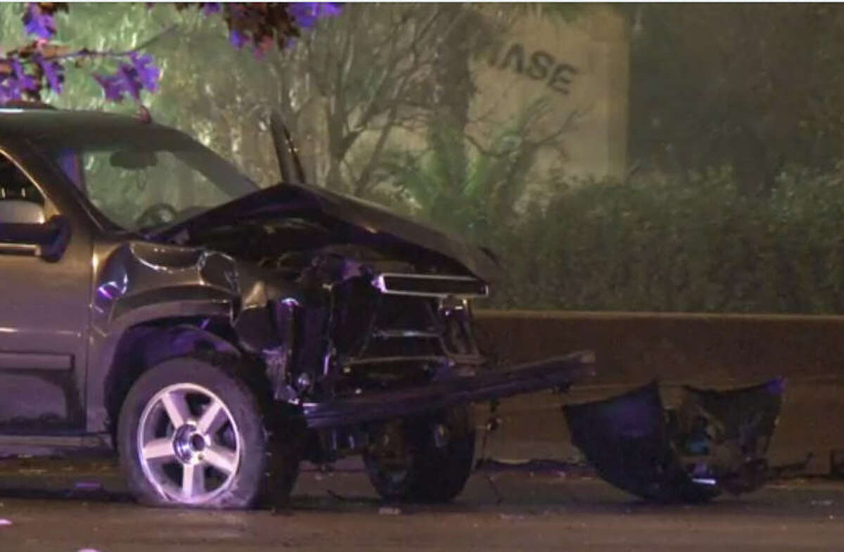 Police investigating Police are investigating a fatal wreck on the North Freeway feeder road where a suspected drunk driver killed one woman when his SUV crossed a grassy median just before West Road and entered the northbound main lanes about 1:30 a.m. Saturday.