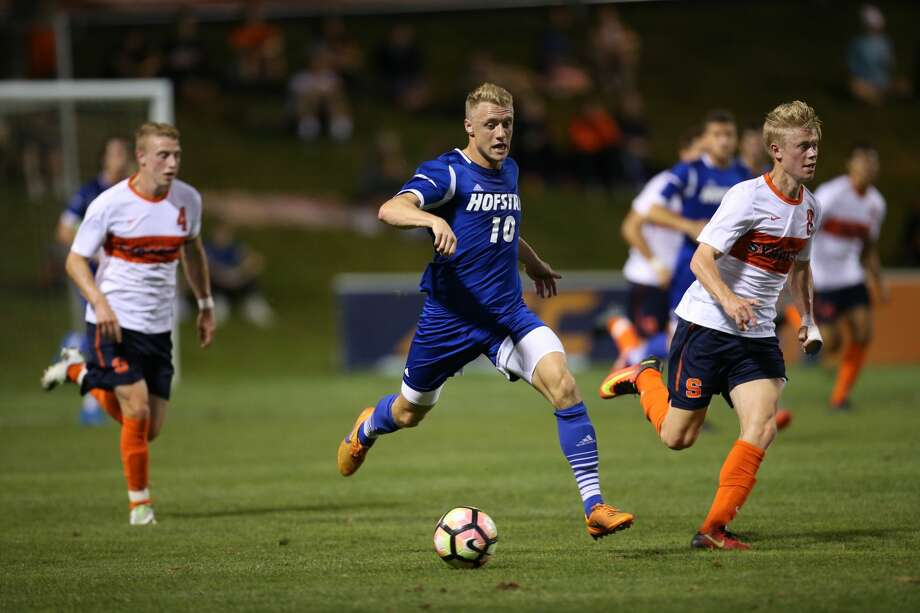 The Dynamo signed first-round draft pick Joe Holland to a first-team contract. The attacking midfielder played in college at Hofstra University. Photo: Hofstra Athletic Communications