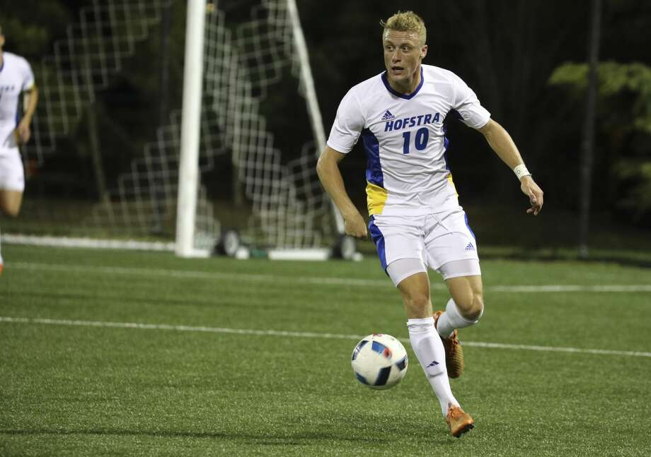 The Dynamo selected midfielder Joe Holland with the No. 10 overall pick in the 2017 MLS SuperDraft. He played four seasons at Hofstra University. Photo: Hofstra Athletic Communications
