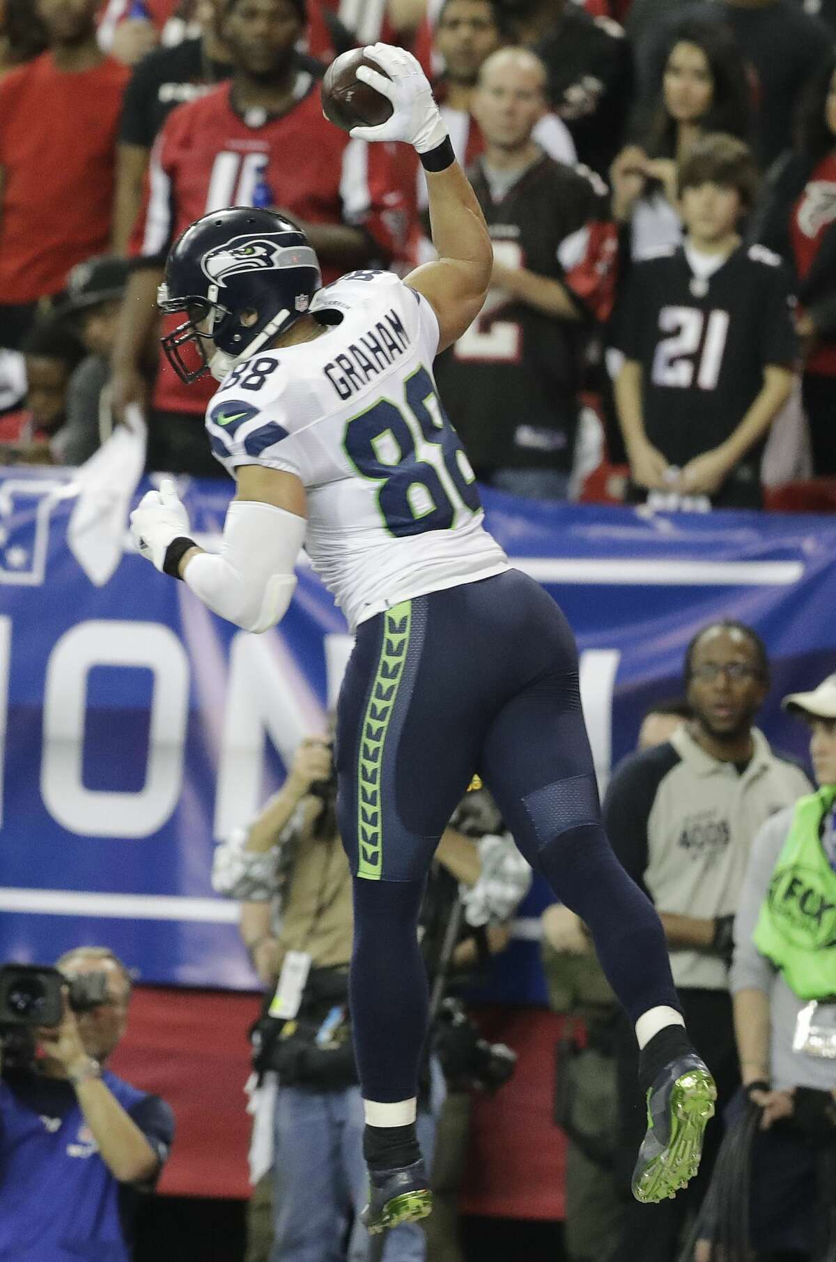 And just a little bit more from Farrar, on Jimmy Graham: The guy who could put this rotation over the top, of course, is Jimmy Graham-if the coaching staff finally unleashes him as the weapon he proved to be with the Saints. Graham got off to a slow start as he was recovering from a torn patellar tendon, but he showed enough potential through his second season in Seattle, despite schematic limitations. He's a gifted contested-catch target.