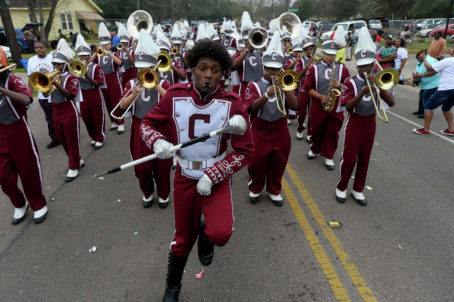 Central High School's band performs during the Beaumont Martin Luther King Jr. Day Parade on Saturday morning.  Photo taken Saturday 1/14/17 Ryan Pelham/The Enterprise Photo: Ryan Pelham / ©2017 The Beaumont Enterprise/Ryan Pelham
