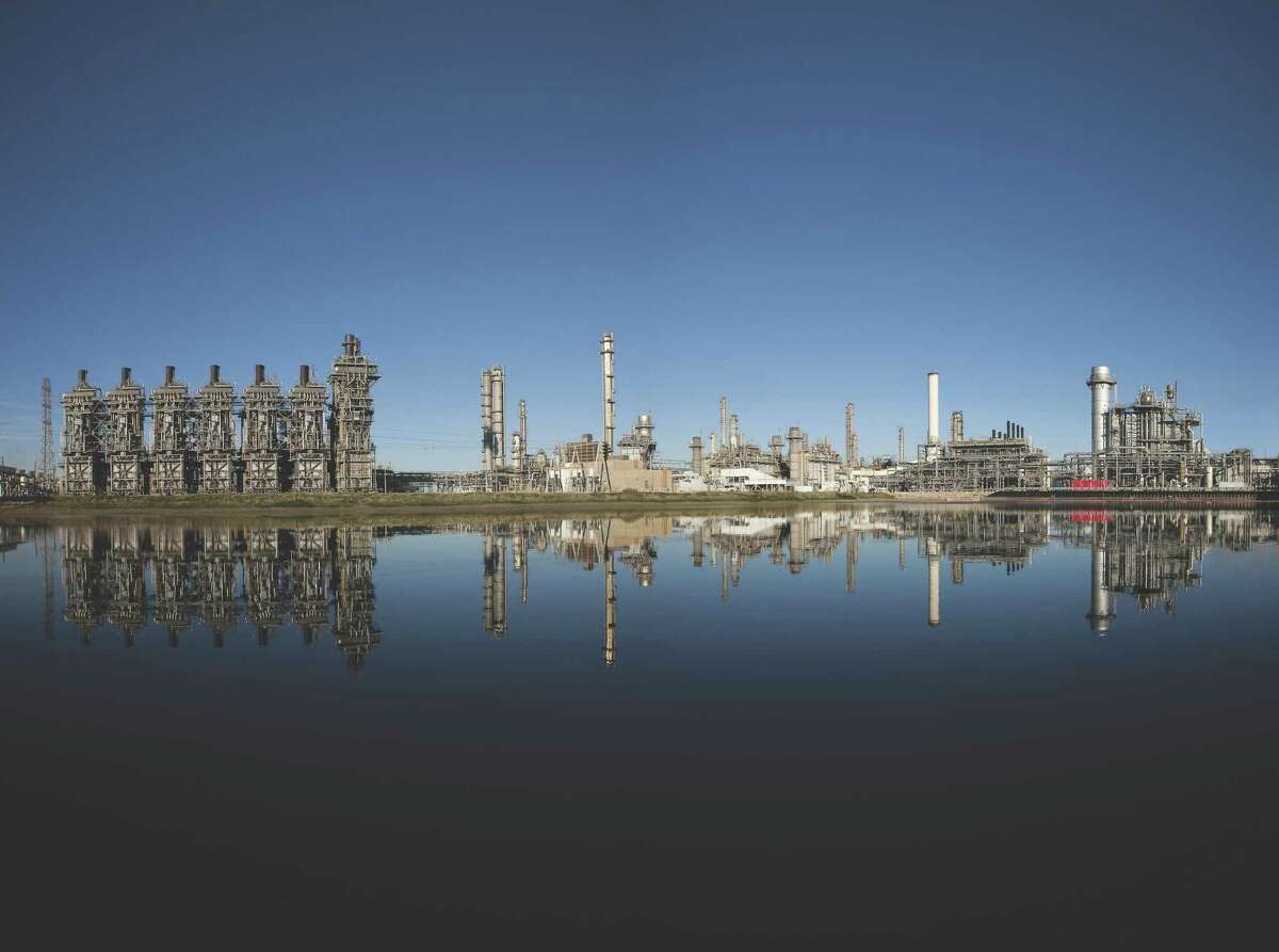 The Exxon Mobil Corp. petrochemical complex in Baytown. Residents in San Patricio County have compared the proposed ethane steam cracker facility that is proposed by Exxon in their area to the plant in Baytown.