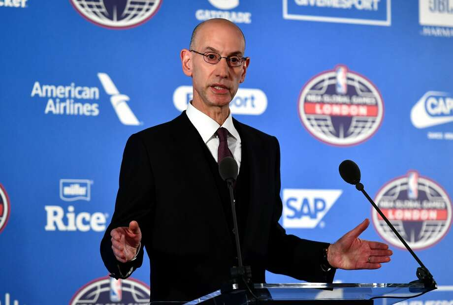 LONDON, ENGLAND - JANUARY 12:  NBA commissioner, Adam Silver speaks during a press conference prior to the NBA match between Indiana Pacers and Denver Nuggets at the O2 Arena on January 12, 2017 in London, England.  (Photo by Dan Mullan/Getty Images) Photo: Dan Mullan/Getty Images