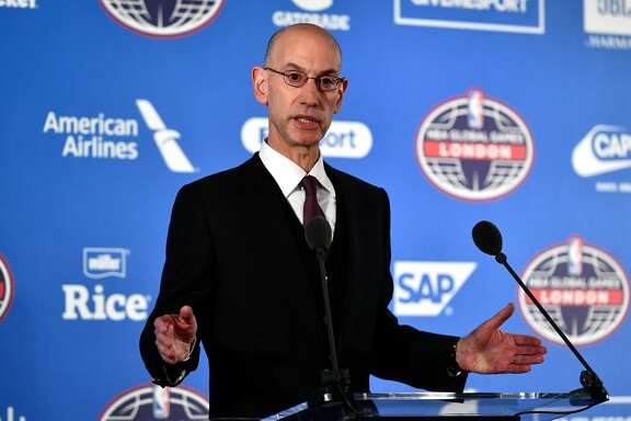 LONDON, ENGLAND - JANUARY 12:  NBA commissioner, Adam Silver speaks during a press conference prior to the NBA match between Indiana Pacers and Denver Nuggets at the O2 Arena on January 12, 2017 in London, England.  (Photo by Dan Mullan/Getty Images)