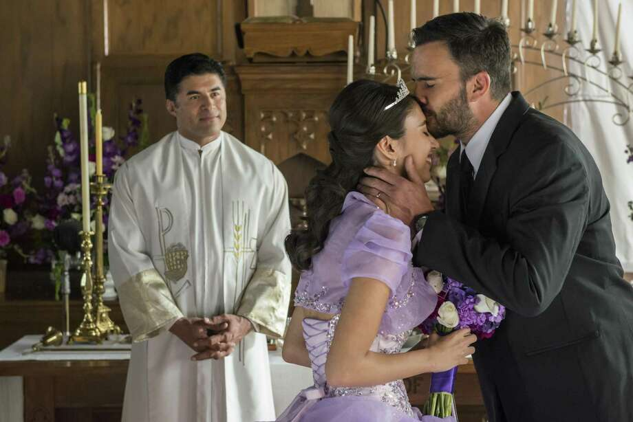 "Navy SEAL Ricky ""Buddha"" Ortiz (Juan Pablo Raba) celebrates his daughter's quinceanera in ""Six."""