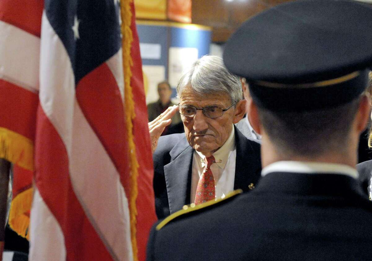 Retired Army Colonel Charles R. Johnson, a veteran of the Vietnam War, was honored as Veteran of Year during a ceremony at the New York State Military Museum on Saturday Nov. 15, 2014 in Saratoga Springs, N.Y. (Times Union Archive)