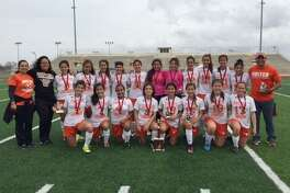 United girls' soccer team defeated Floresville 6-0 in the San Antonio Edgewood Soccer Tournament championship game.