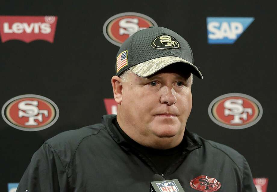 San Francisco 49ers coach Chip Kelly speaks at a news conference after a game against the Seattle Seahawks in Santa Clara, Calif., Sunday, Jan. 1, 2017. The Niners finished 2-14 in the 2016 season, and Kelly was fired. When he coached the Philadelphia Eagles in 2015, Kelly cut Raheem Mostert even though Mostert had played brilliantly during the preseason. Photo: Marcio Jose Sanchez, Associated Press