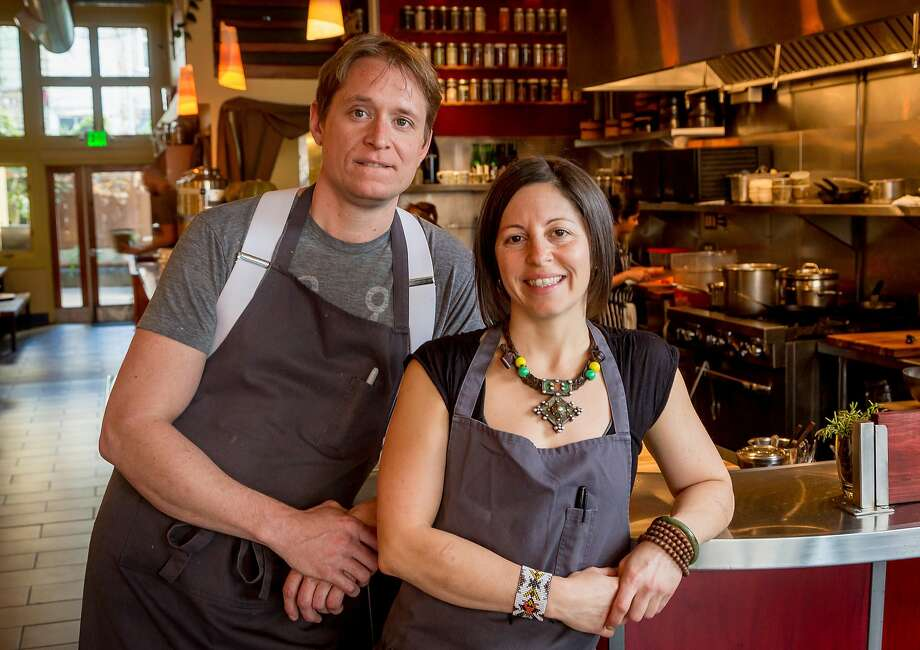 Chef-owners Nick Balla and Cortney Burns at Motze earlier this year. Photo: John Storey, Special To The Chronicle