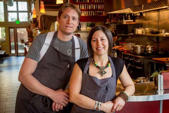 Chef owners Nick Balla and Cortney Burns of Motze in San Francisco, Calif. are seen on January 14th, 2017.