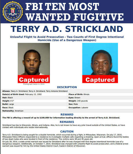 Added to the listThe FBI added Terry A.D. Strickland to the Ten Most Wanted list in December and offered a $10,000 reward for his capture. Photo: FBI