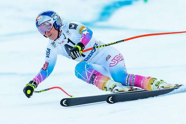 Lindsey Vonn of the US competes during the the women's downhill event at the FIS Alpine Skiing World Cup in Zauchensee, Austria, on January 15, 2017. / AFP PHOTO / APA AND EXPA / Johann GRODER / Austria OUTJOHANN GRODER/AFP/Getty Images