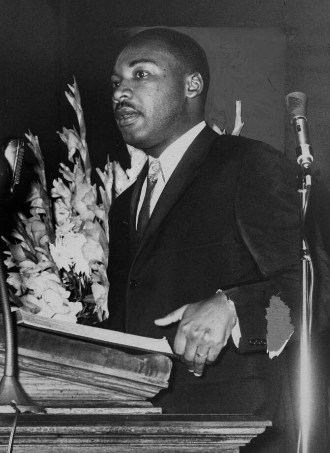 Martin Luther King Jr. June 16, 1961, in Albany, N.Y. (Times Union archive)