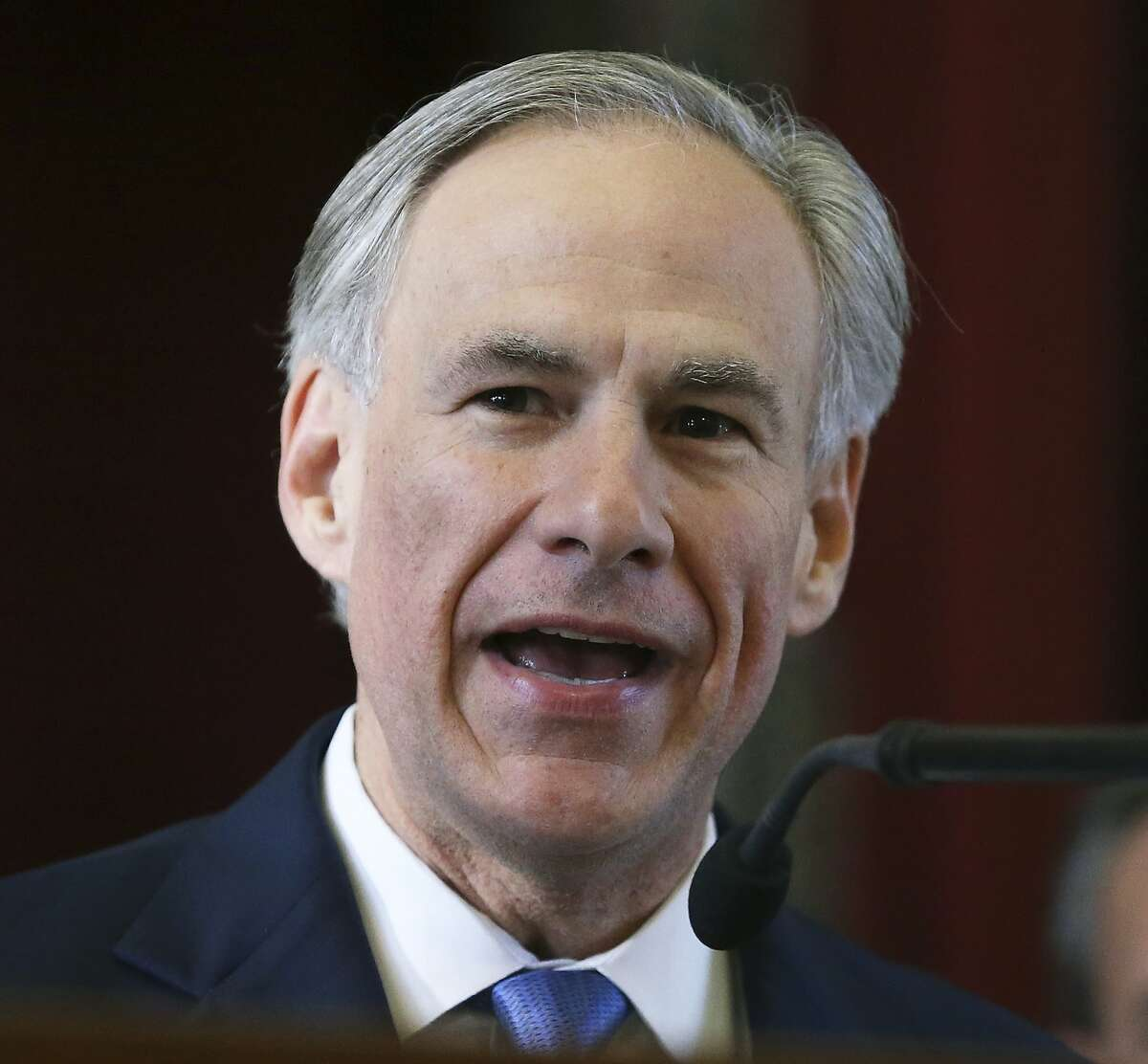 Governor Greg Abbott makes remakes in the House as the 85th Texas Legislative session opens in Austin on January, 10, 2017.