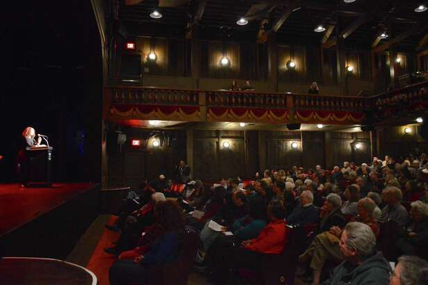 There was a big crowd on hand to hear Tricia Rose speak at the Martin Luther King Jr. celebration at the Westport Country Playhouse, Sunday, Jan. 15, 2017, in Westport, Conn.