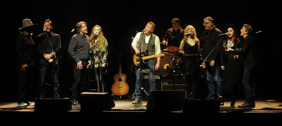 "Sound (quiet):Don Henley was the second performer at the Centre but the first musician. He gave it a good rest run from the beginning with a pretty arrangement of ""Seven Bridges Road."" The harmonies sounded wonderful. A Photo: Dave Rossman, For The Chronicle / Dave Rossman"