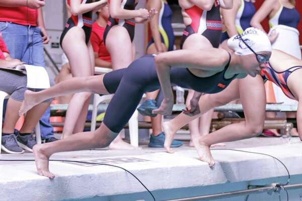 Alexander's Aneesa Mohammed won the 200-individual medley and the 100-freestyle at a tri-meet in Roma on Saturday.
