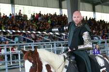 Sir James gets ready for battle at the EarlyAct FirstKnight Tournament of Champions on Tuesday at Anson Rigby Arena in Dayton.