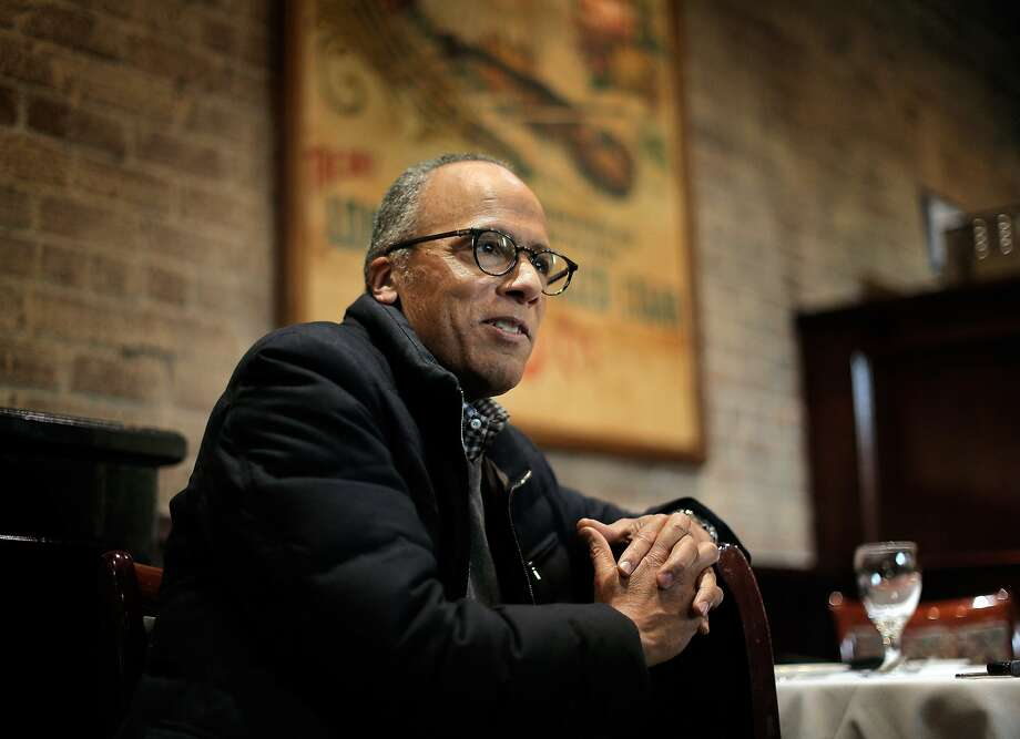 Lester Holt during an interview at Firehouse Restaurant in Sacramento. Photo: Carlos Avila Gonzalez, The Chronicle