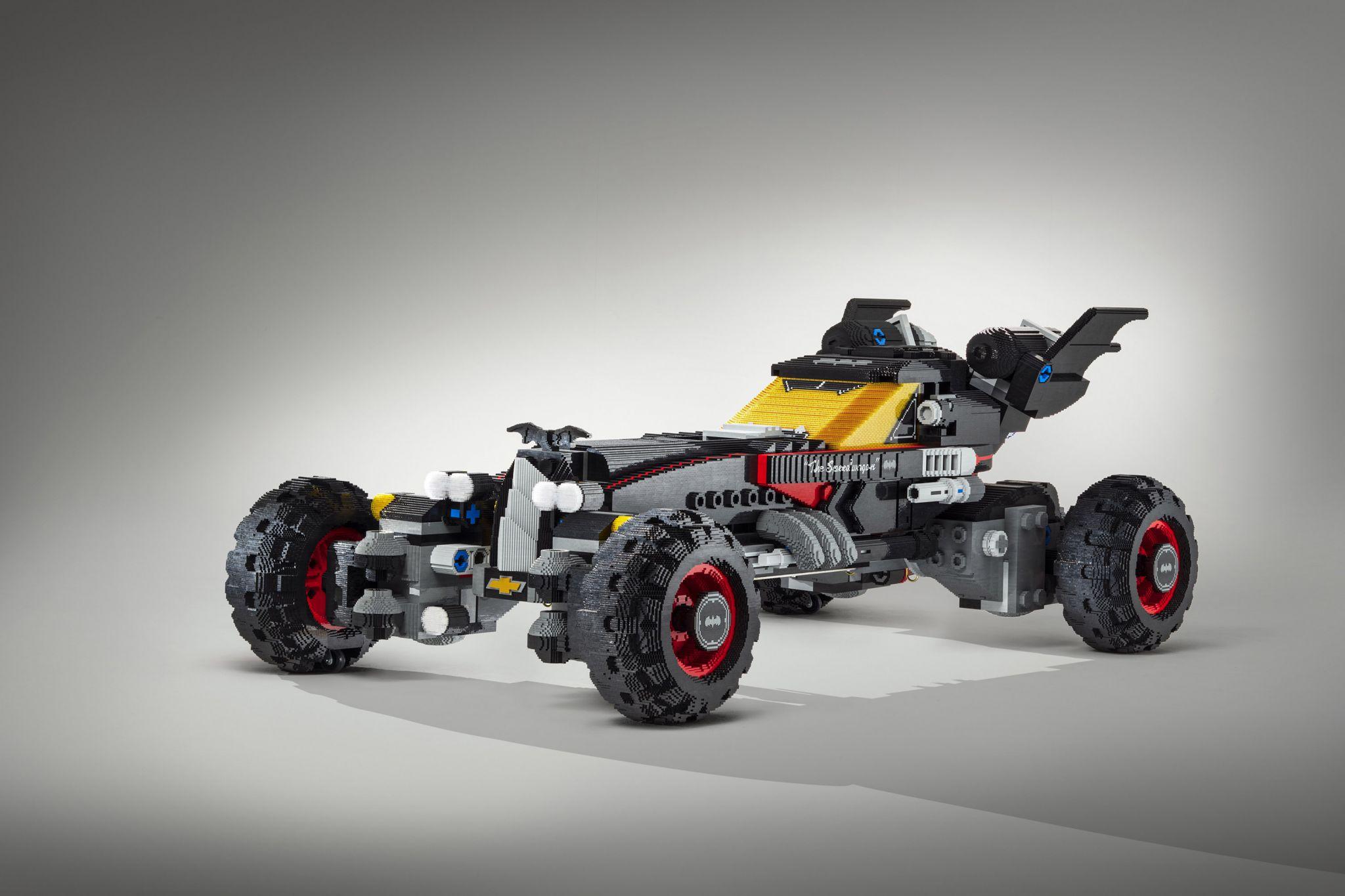 Chevrolet unveils life-size LEGO 'Batmobile' at Detroit auto show