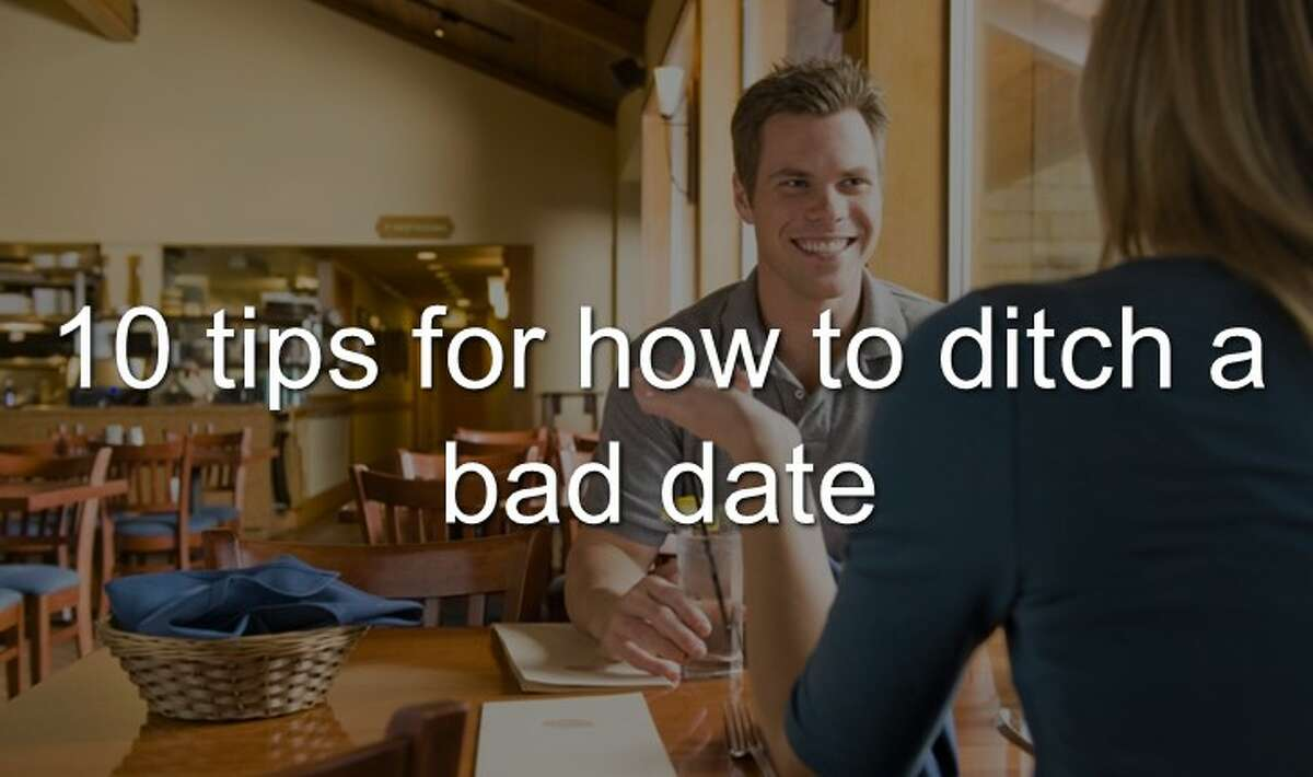 Continue clicking to learn 10 tips for how to ditch a bad date.