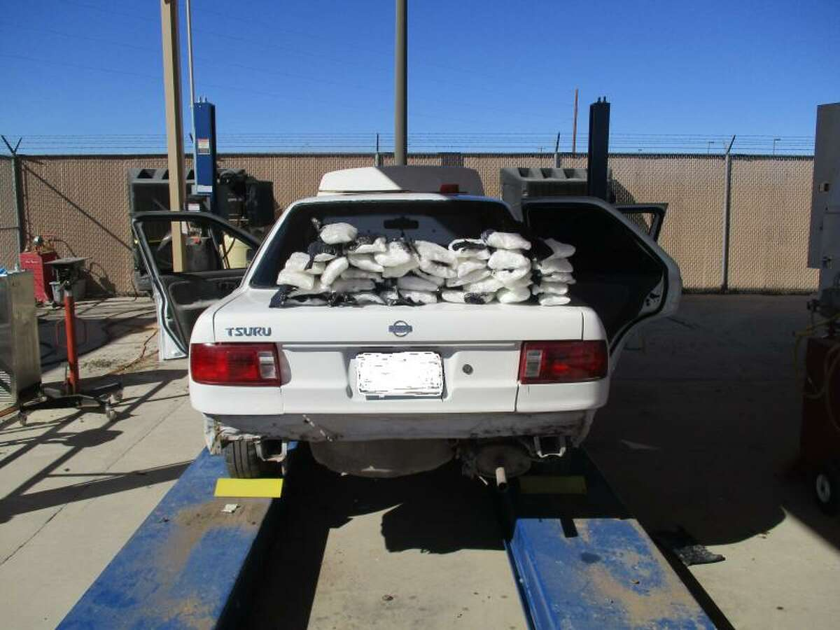 A record-breaking $2 million in meth was found at the Mexico-Texas border, Jan. 11, 2017. Pictured is one of the two vehicles where the substance was found.