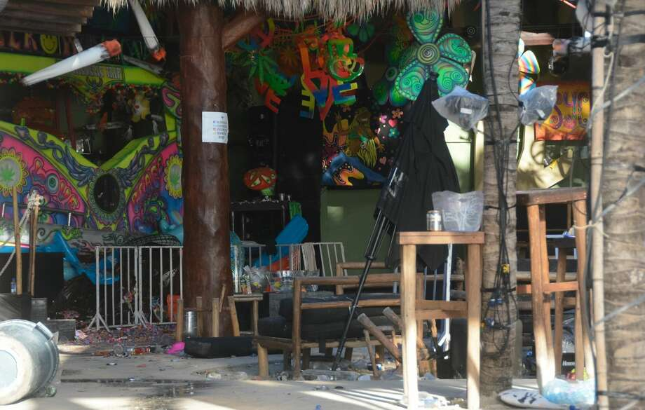 View of the Blue Parrot nightclub in Playa del Carmen, Quintana Ro state, Mexico where 5 people were killed, three of them foreigners, during a music festival on January 16, 2017. A shooting erupted at an electronic music festival in the Mexican resort of Playa del Carmen early Monday, leaving at least five people dead and sparking a stampede, the mayor said. Fifteen people were injured, some in the stampede, after at least one shooter opened fire before dawn at the Blue Parrot nightclub during the BPM festival.    / AFP / STR        (Photo credit should read STR/AFP/Getty Images) Photo: STR/AFP/Getty Images