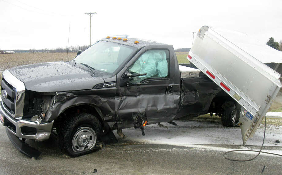 This photo from the scene of the accident is courtesy of the Sanilac County Sheriff's Office.