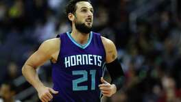 Marco Belinelli, who left the Spurs as a free agent in 2015, is now with Charlotte.