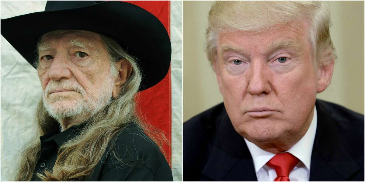 """PHOTOS: Willie Nelson's famous friends Country legend Willie Nelson has written a diss track of sorts aimed at President-elect Donald Trump and the 2016 election process. Nelson, who turns 84 years old in April, has been vocal of his wariness of Trump in the past, calling him a """"hustler"""" of sorts in late 2015 as Trump's campaign began to heat up with TV crews following him around the country. Click through to see Willie Nelson and all his celebrity friends..."""