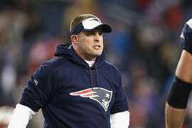 FOXBORO, MA - JANUARY 14: Offensive Coordinator Josh McDaniels of the New England Patriots looks on prior to the AFC Divisional Playoff Game against the Houston Texans at Gillette Stadium on January 14, 2017 in Foxboro, Massachusetts.  (Photo by Maddie Meyer/Getty Images)