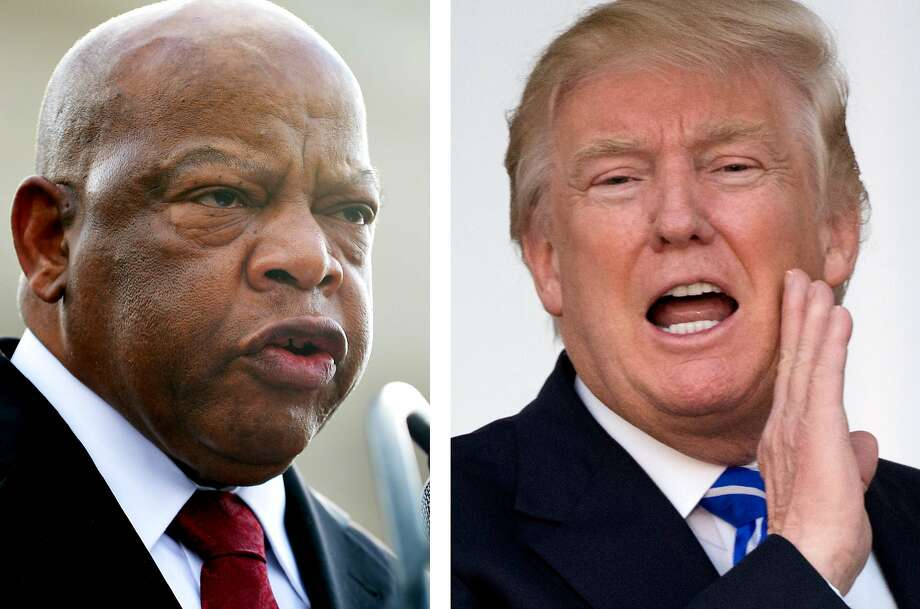 A Virginia man found himself caught in the crossfire of a nasty Twitter war between supporters of President-elect Donald Trump and supporters of Congressman and civil rights legend John Lewis. Photo: MANDEL NGAN, AFP/Getty Images