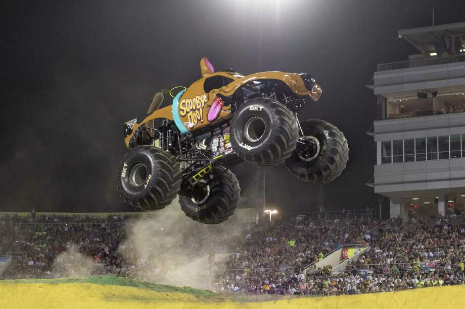 Scooby-Doo, the latest  Warner  Bros.-themed monster truck, is making its San Antonio debut at Monster Jam 2017. Photo: Feld Entertainment