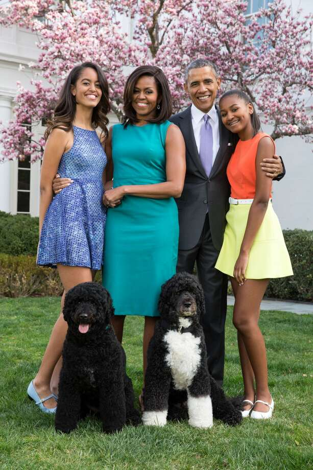 On Sunday, June 18, the Obama women wished former President Barack Obama a very happy Father's Day in the sweetest way. Continue clicking to see the Obama girls grow up right before America's eyes. Photo: Handout/Getty Images