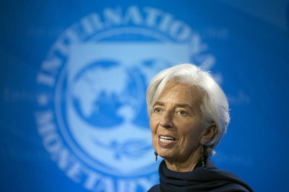 Christine Lagarde is managing director of the International Monetary Fund, which forecast an increase in U.S. economic growth over the next two years. Photo: Cliff Owen, Associated Press