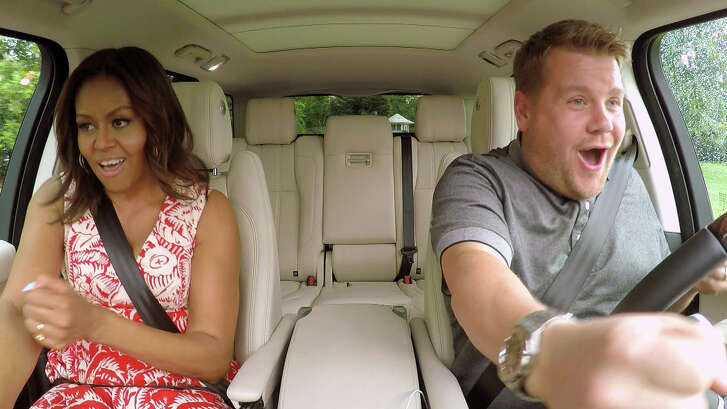 """First lady Michelle Obama and James Corden, host of """"The Late Late Show With James Corden,"""" went for a memorable and musical drive for the """"Carpool Karaoke"""" segment of the show."""