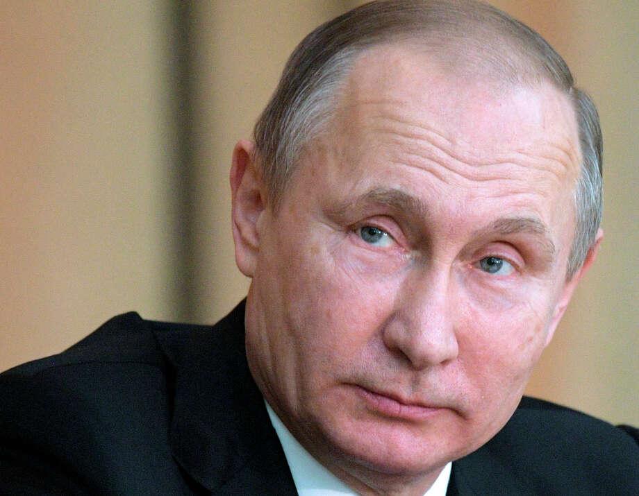 Russian President Vladimir Putin.  (Alexei Druzhinin/Sputnik, Kremlin Pool Photo via AP, File) Photo: Alexei Druzhinin, POOL / POOL SPUTNIK KREMLIN