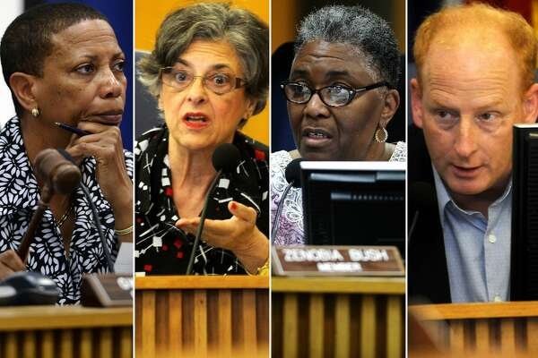 WHO WANTS TO RUN BEAUMONT ISD?     See whether former school board members will run for office in the May election.      Former Beaumont ISD board members, from left, Gwen Ambres, Janice Brassard, Zenobia Bush and Mike Neil.