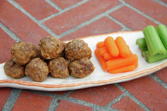 Use an ice cream scoop to form these Buffalo-Style Meatballs.
