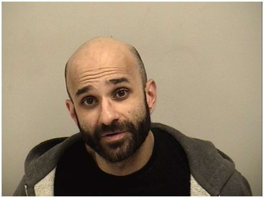Charles Vosgueritchian, 37, of Westport, was charged with tampering with evidence, interfering with an officer and possession of drug paraphernalia in Westport, Conn. on Jan. 12, 2017. Photo: Westport Police / Contributed Photo / Westport News