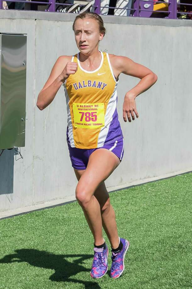 Mohonasen graduate Cara Sherman of the UAlbany women's cross country team. (UAlbany sports information) Photo: Bill Ziskin / © Bill Ziskin Photography LLC
