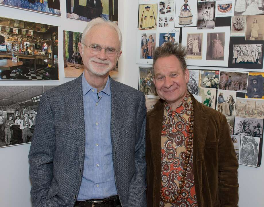 """Girls"" composer John Adams (left) and director-librettist Peter Sellars. Photo: Scott Wall"