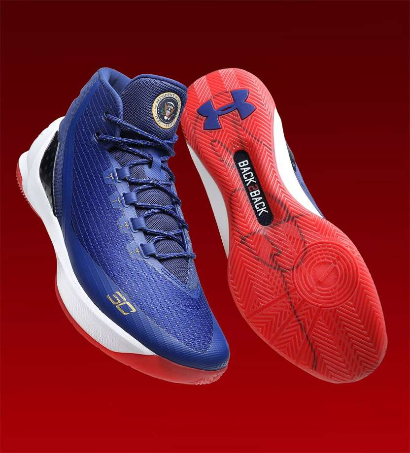 Warriors' Stephen Curry shows off new Under Armour shoe for Finals
