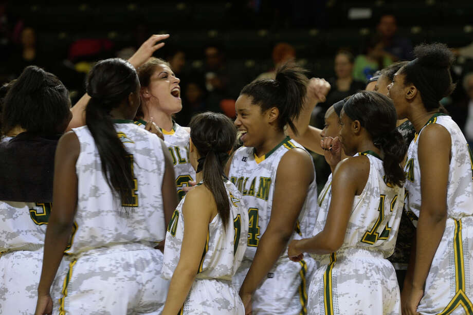 Midland College basketball players celebrate a win against Western Texas College on Monday, Jan. 16, 2017, at Chaparral Center.  James Durbin/Reporter-Telegram Photo: James Durbin