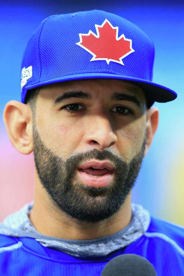 TORONTO, ON - OCTOBER 04:  Jose Bautista #19 of the Toronto Blue Jays is interviewed prior to the American League Wild Card game against the Baltimore Orioles at Rogers Centre on October 4, 2016 in Toronto, Canada.  (Photo by Vaughn Ridley/Getty Images) ORG XMIT: 674212871 Photo: Vaughn Ridley / 2016 Getty Images